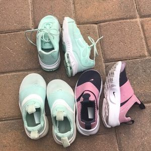 Nike girls shoes bundle